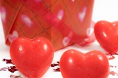 heart shaped wax melts