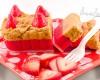 sliceable wax_strawberry cheescake
