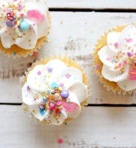 cherry cakes & sugar sprinkles
