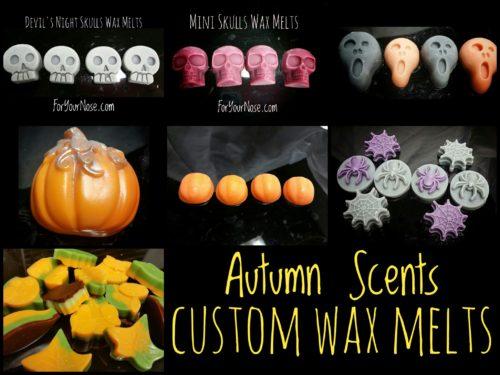 autumn wax melts custom shapes & scents