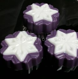 Holiday Wax Melts - Lavender Peppermint Snowflakes (RTS)